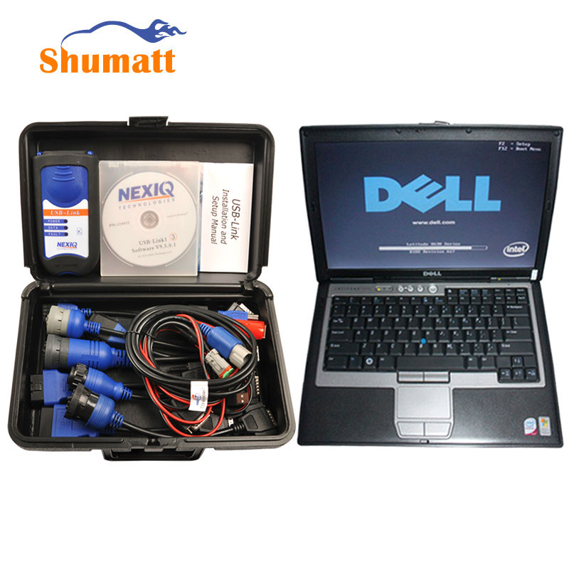 NEXIQ 125032 USB Link With font b Laptop b font Heavy Duty Diesel Truck Diagnostic Scanner