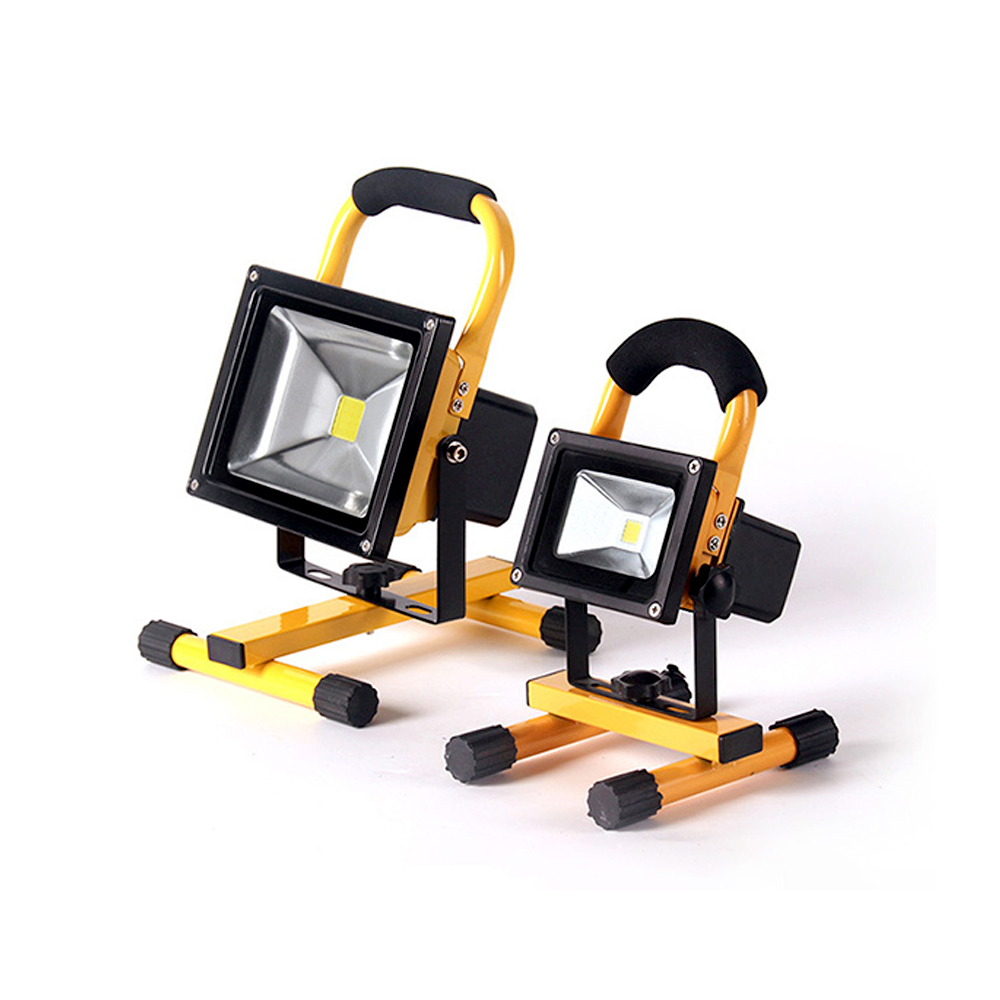 Led Rechargeable Work Light 10w For Garage: IP65 COB Portable LED Floodlight 10W 20W Waterproof Led