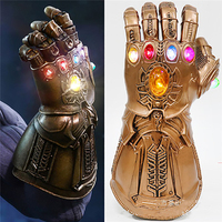 Avengers Infinity War LED Light Thanos Infinity Gloves Cosplay Superhero Action Figure Model Toys Gift for Children Party