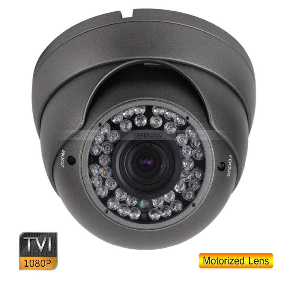 4PCS HD TVI 1080P CCTV Metal Dome Camera 2.0 MP 2.8-12mm Motorized Lens OSD Menu