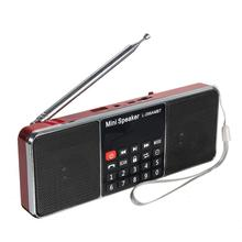 Leitor de música portátil do orador mp3 do rádio de bluetooth fm/am do lcd micro para os oradores duplos de usb do sd