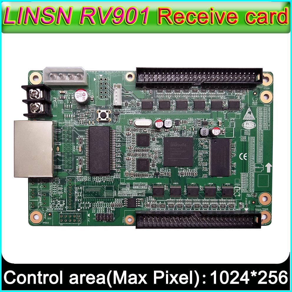 LINSN RV901 Receiving Card Full Color LED Display Screen Controller, Universal Interface Suitable For All Kinds Of HUB Board