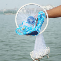 Outdoor Fishing Tackle Magic Fishing Net Finefish Aluminum Ring American Catch Fish Network Bait Worms Fishing Accessories