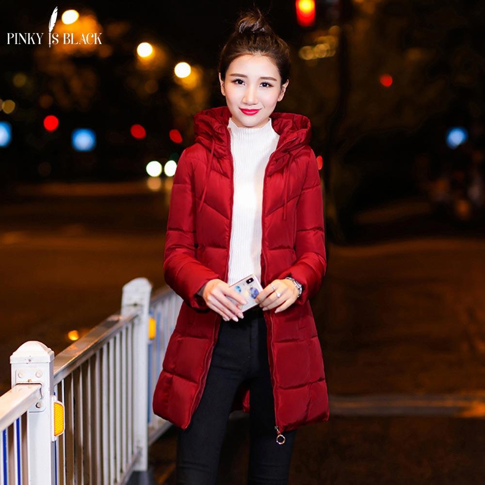 PinkyIsBlack Winter jacket women thickening Long outerwear down cotton-padded hooded   parkas   jacket winter coat women clothing