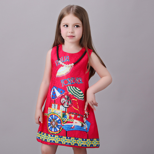 e1e1f956a Girls Dresses Summer 2016 flower Kids Dress For Girls Party Dress ...