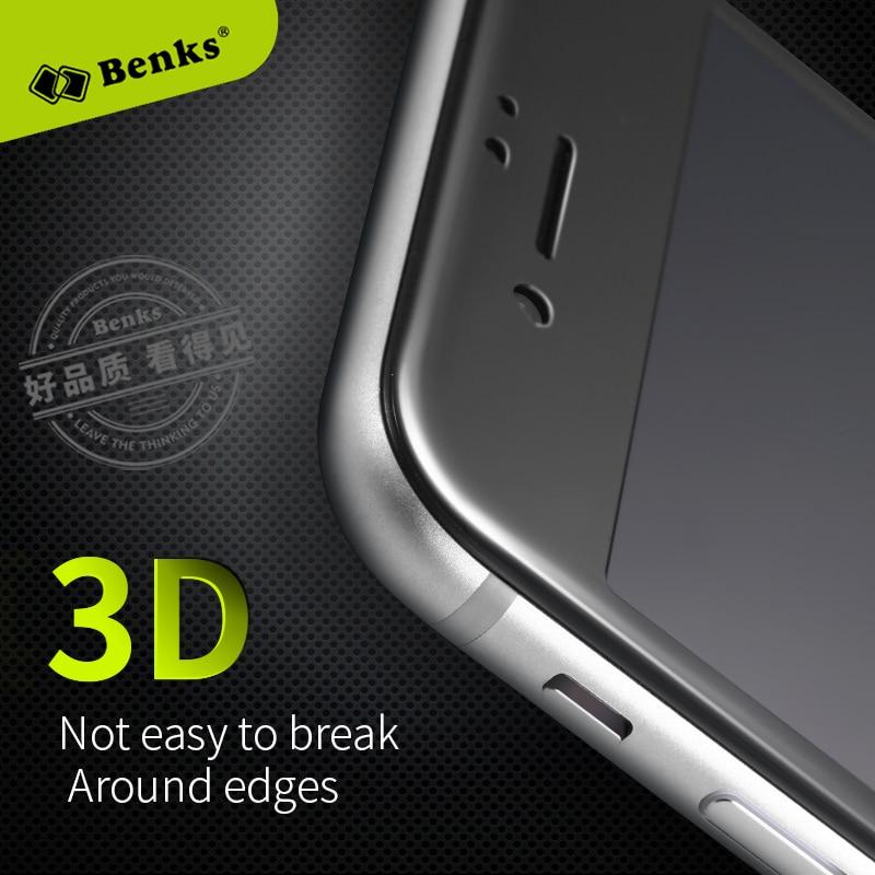<font><b>Benks</b></font> 3D <font><b>Curved</b></font> <font><b>Tempered</b></font> <font><b>Glass</b></font> <font><b>Screen</b></font> <font><b>Protector</b></font> for iPhone 7 7plus Phone Celular Full Cover Protection Film for iPhone7 Black