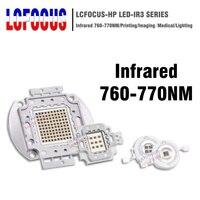High Power LED COB Chip Infrared 760 770nm 3W 5W 10W 20W 30W 50W 100W Far Red Light Lamp 3 5 10 20 30 50 100 W Watt IR