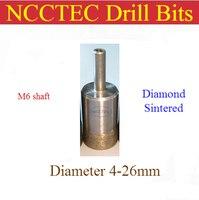 17mm 0 66 ''Gesinterte diamant bohrer NSCD17M6 KOSTENLOSER versand | NASS glas lochsäge cutter/1 stücke bohren kann tausende von löcher-in Bohrkronen aus Werkzeug bei