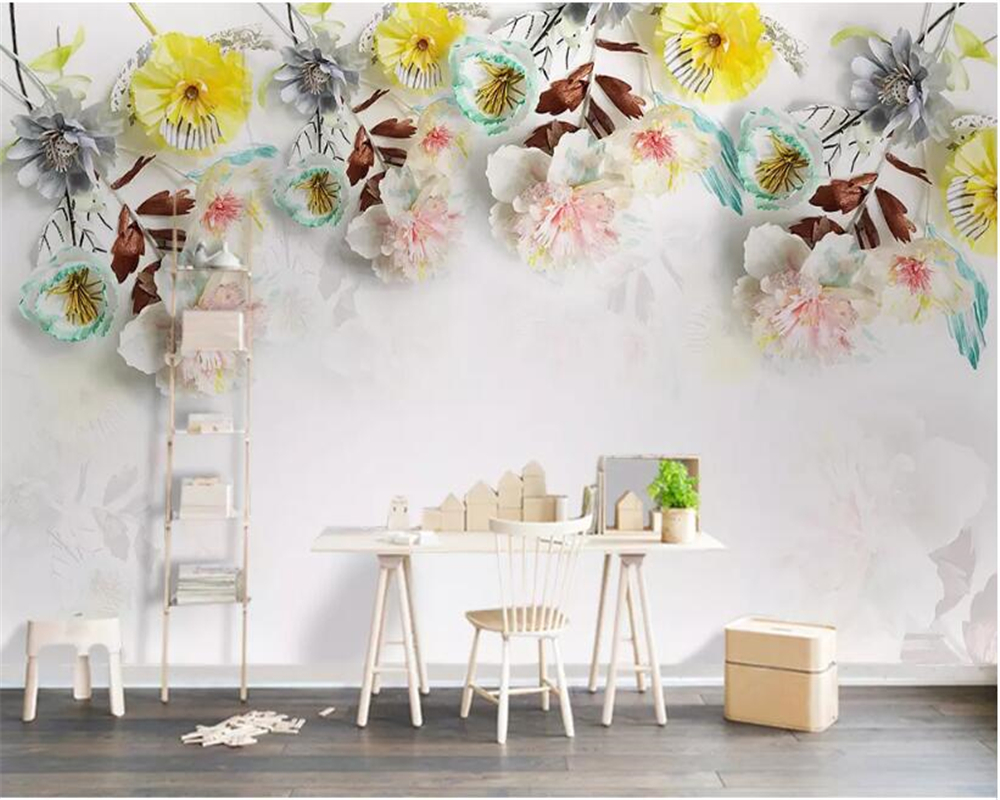 Beibehang Custom Photo Wall Mural 3d Wallpaper Luxury: Beibehang Custom Photo Wallpaper 3D Modern Real Flower
