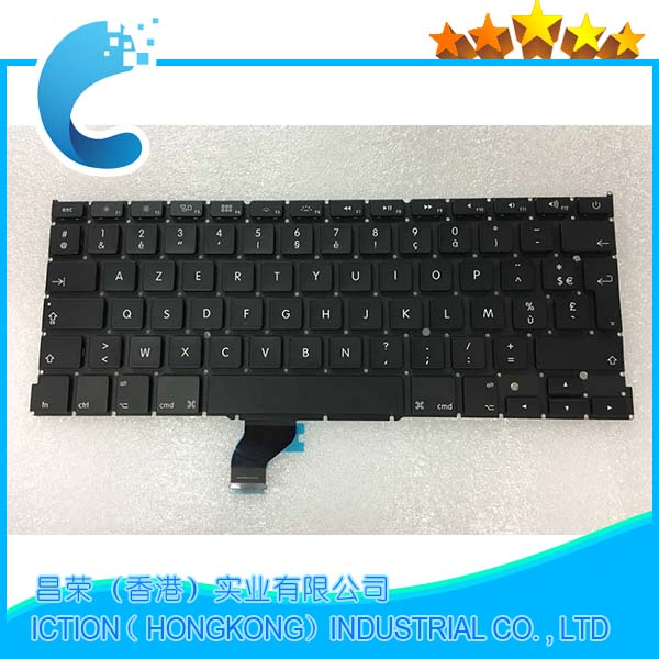New Original Keyboard FRANCAIS for Macbook Pro Retina 13 A1502 2013 2014 2015 Clavier FR AZERTY french keyboard image