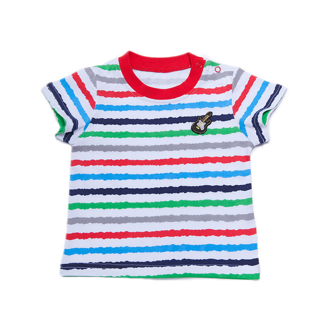 baby boy short sleeve t-shirt newborn clothes brand baby-clothes striped kids shirts 100% cotton