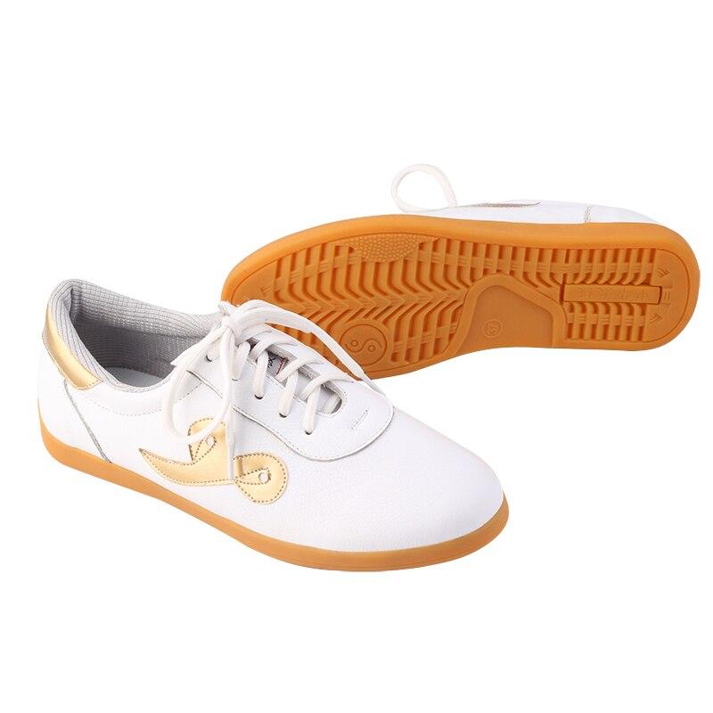 De haute qualité unisexe réel souple en cuir arts Martiaux tai chi chaussures homme femme kung fu Wushu Taijiquan Kungfu chaussures