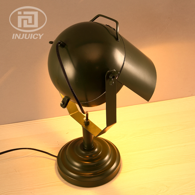 Vintage Art Industrial Sensor LED Desk Lamp Wrought Iron Decoration Designer Living Room Bar Cafe Table Lamp ...