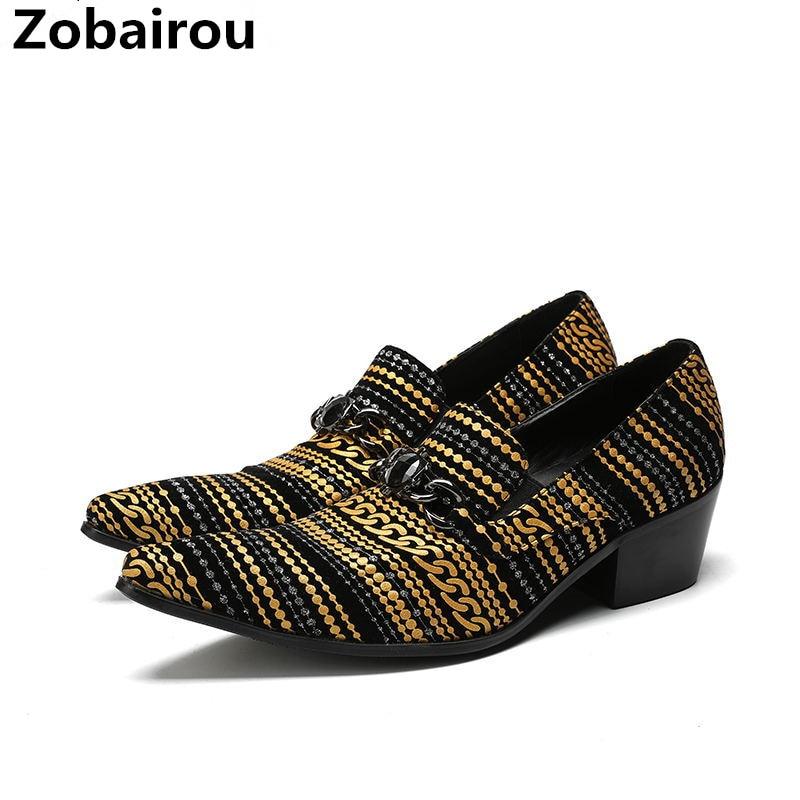 Здесь продается  Zobairou zapatos hombre hidden heel shoes for men pointed toe mens formal shoes velvet slipper business office loafers plus size  Обувь