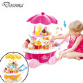 39pcs DIY Electric Music Dessert Ice Cream Car Children Kids Baby Girl Early Educational Classic Toys Pretend Play Kitchen Toys