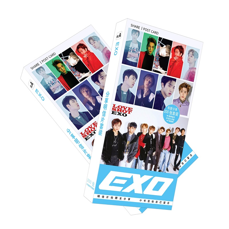 Business Cards 200 Pcs/set Korean Exo Paper Postcard/greeting Card/message Card/christmas And New Year Gifts Office & School Supplies