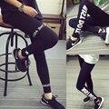 Wear original SuFeng 2016 hip hop mostrar fina fina movimento apertado tipos cartas de impressão individualidade pés tornar calças de altura