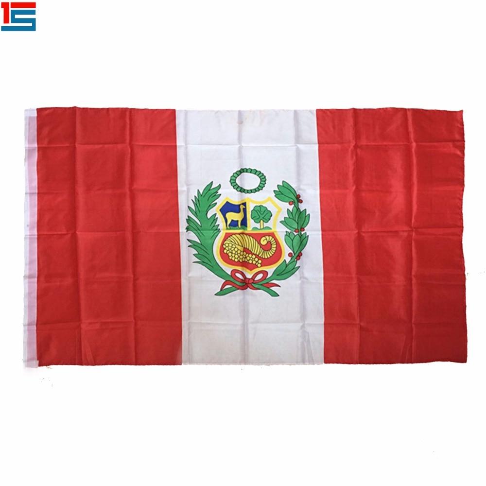 ><font><b>2018</b></font> New Arrival The <font><b>Peru</b></font> Flag Polyester Flag 5*3 FT 150*90 CM High Quality Banner
