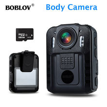 BOBLOV WN9 Novatek 96650 IR Night Vision 1296P HD Video Camera 2.0 Inch LCD USB Body Worn Cam TF 64GB C10 Audio Recorder