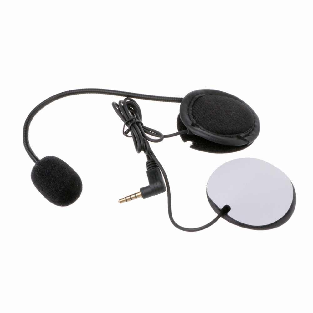 Микрофон, динамик, мягкий кабель, гарнитура, 3,5 мм разъем, без зажима, для V4 V6, мотоциклетный шлем, Bluetooth, домофон, гарнитура