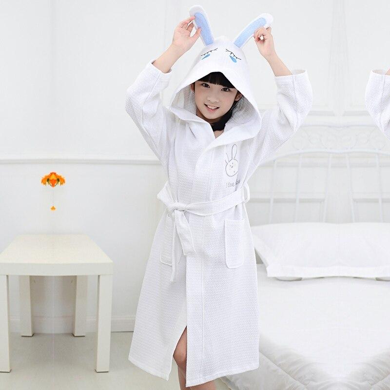 Underwear & Sleepwears Men's Sleep & Lounge Bamboo Fiber Children Bathrobe Kds Towel Material Cartoon Cap Boys And Girls Bathing Bath Spa Bathrobes Spring Summer Winter