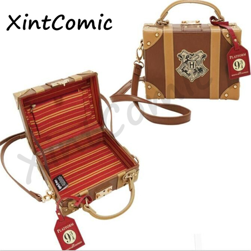 Movie Harri James Potter Hogwarts Platform Trunk Cosplay Props Crossbody Handbag Bag Purse Parts