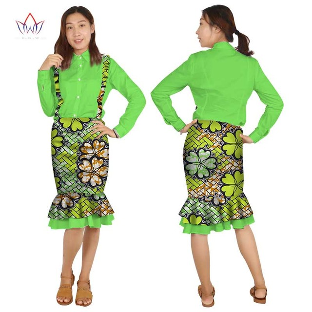 fcad42fa2d3 BRW 2017 New Autumn African Suits for Women Dashiki Long Sleeve Africa  Clothing Plus Size Traditional African clothing WY2073