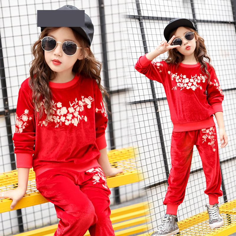 Children Tracksuit Teenager Girls Clothing Sets Autumn Long Sleeve Sport Kids Clothes Sweatshirts + Pants Back to School Outfits children clothing for autumn kids set boys and girls long sleeved sport clothes sets teenager hoodies pants outfits 2pcs