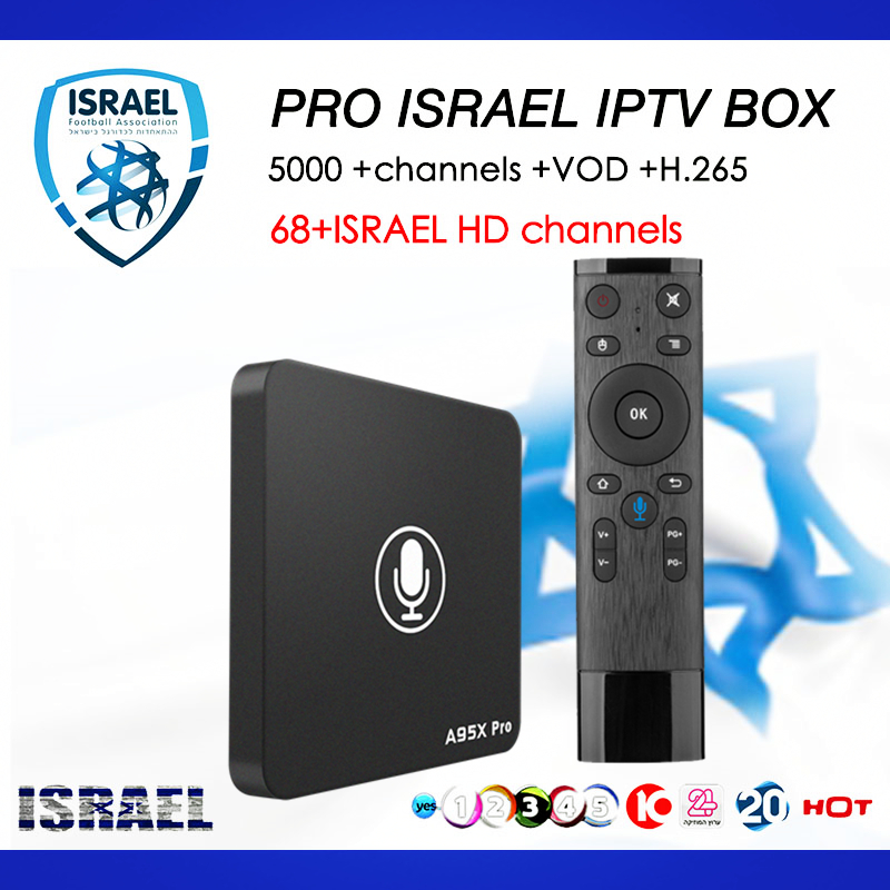 Israel IPTV A95X PRO Android TV box 7.1+Voice Control 5000+live channels Nordic Norway Denmark Finland Europe smart tv top box