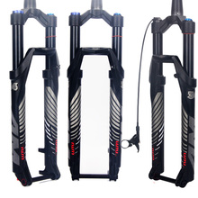 купить bicycle fork RL 140 26 27.5 29ER cone Inch Fork Suspension Lock Straight Tapered Thru Axle QR Quick Release Rebound adjustment по цене 6026.1 рублей