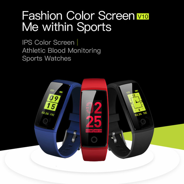 SV10 Smart Wristband Fitness Tracker Heart Rate Monitor Band Blood Pressure  Colorful for Samsung Galaxy S8 Plus S7 Edge
