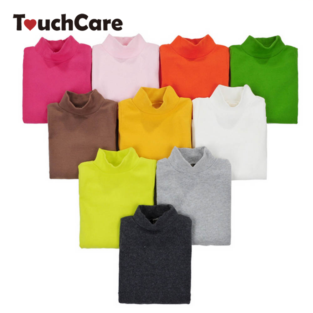 16 Colors Girls Long Sleeve Turtleneck Basic Cotton T shirts Kids Clothing Girls Tops Children Clothes T-shirt