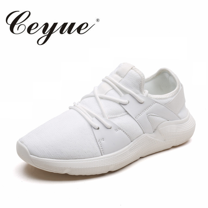 Ceyue Man Shoes Wave Fly Causal Shoes Men New Arrivals Lace Up Leisure Sneakers Adult Non-Slip Comfortable Footwear 3 Colors