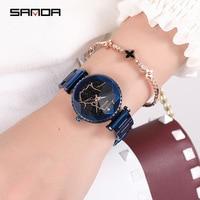 Sanda 2018 New Style Women's Watch Stainless Steel Belt Elegant Atmosphere Female Watches Wrist Fashion Watch Quartz Fashion