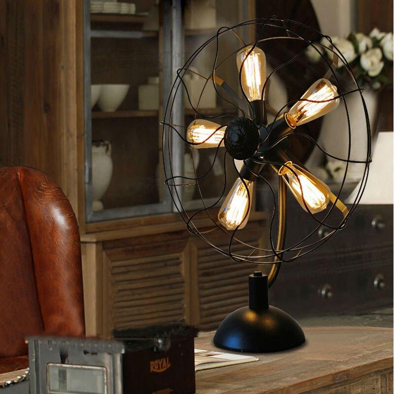 Iron Fan Table Lamps 12