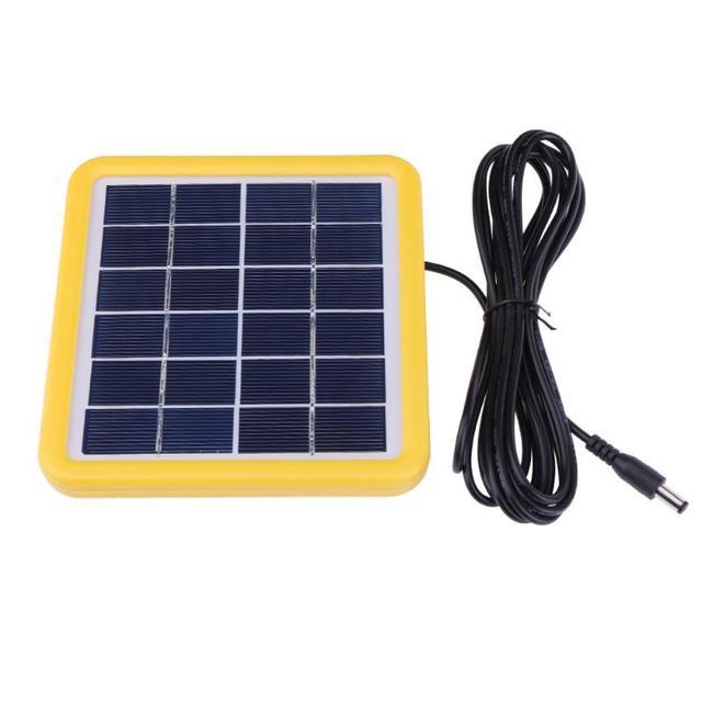 2ワット6 12v有線太陽電池多結晶シリコンpet + eva積層ミニ太陽電池パネルソーラー屋外電源