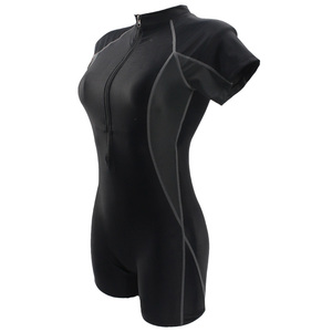 Image 4 - SeaBbot Swimsuit One Piece Swimwear Sport Professional Neck to Knee Competition Zipper Swimsuit Sexy Racing Suit women 81103