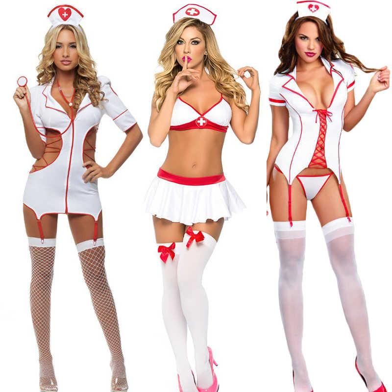 2b927333e6a 3 Styles Cosplay Nurse Sex Lingerie Women Uniform Temptation Erotic Sets Sexy  Costumes Porn Role Play