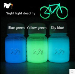 Hot sale 100g mixed 3 colors luminescent powder phosphor Pigment for DIY decoration Paint Print ,Glow in dark Powder Dust.