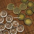 25mm Transparent Clear Domed Magnifying Glass Cabochon Cover for Alloy Photo Pendant Making DIY Nickel Free10Sets/lot
