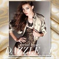 Gold nouveau riche British ELEGANCE RING bright silk jacquard collision import brocade cloth fashion dress fabric