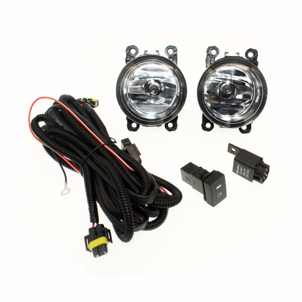 For LAND ROVER FREELANDER  H11 Wiring Harness Sockets Wire Connector Switch + 2 Fog Lights DRL Front Bumper Halogen Car Lamp for land rover freelander h11 wiring harness sockets wire connector switch 2 fog lights drl front bumper 5d lens led lamp