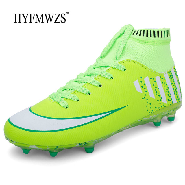HYFMWZS Superfly Original High Ankle Football Boots Trainers Footbal  Krasovki Soccer Shoes Men Non-slip Soccer Cleats Chuteiras b683ea977112