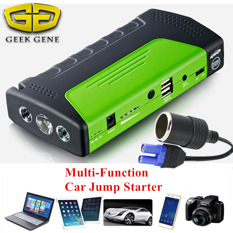 2018 Mini Car Jump Starter 12V Emergency Starting Device Power Bank Car Charger for Car Battery Booster Buster Petrol Diesel high quality 12v mini emergency car jump starter multi function power bank 9900mah battery charger booster cellphone petrol