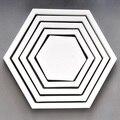 Estrela Hexágono Quadrado peixe Pentagrama quatro estrelas 3d moldura de madeira adesivos de parede