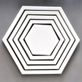 Star Square Hexagon fish Pentagram four star 3d  wooden frame wall stickers