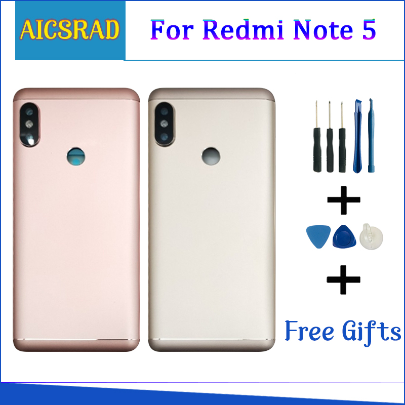 Housing For Xiaomi <font><b>Redmi</b></font> <font><b>Note</b></font> <font><b>5</b></font> <font><b>Pro</b></font> Note5 Metal <font><b>Battery</b></font> Back <font><b>Cover</b></font> Replacement Parts Case With Lens Buttons image