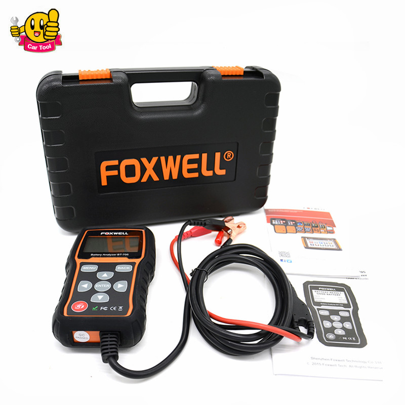 Foxwell BT705 BT-705 12 Volt Battery Analyzer Tester Directly Detect Bad Car Cell Battery