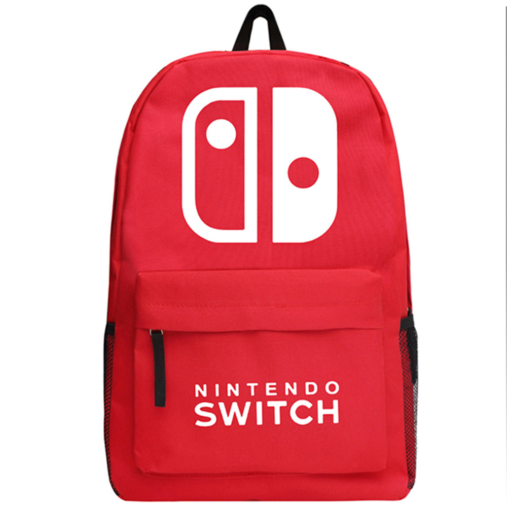 Zshop Game PS4 Nintendo Switch Backpack Boys and Girls Oxford School Bag Teenagers Bookbag candy color calabash shaped cosmetic makeup cotton pads sponge puff pink