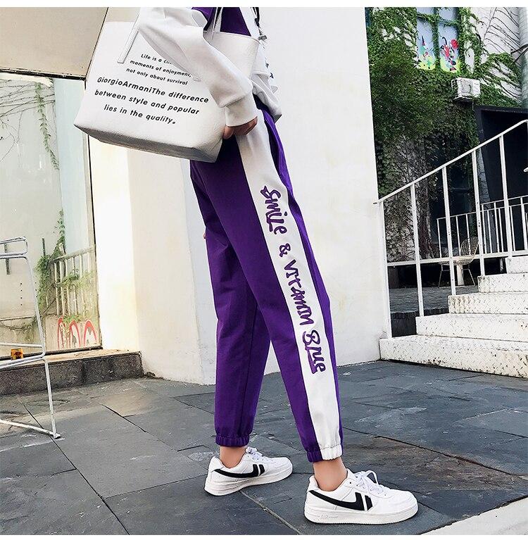 FINEWORDS Striped Jogger Harem Pants Long Leisure Pants Women Autumn Female Clothes Sweatpants Sportswear Trousers Plus Size 12
